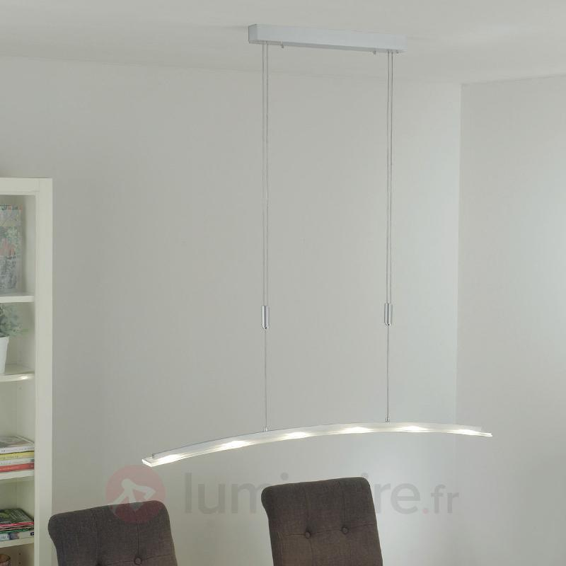 Suspension LED en verre Juna, variable, 116 cm - Suspensions LED