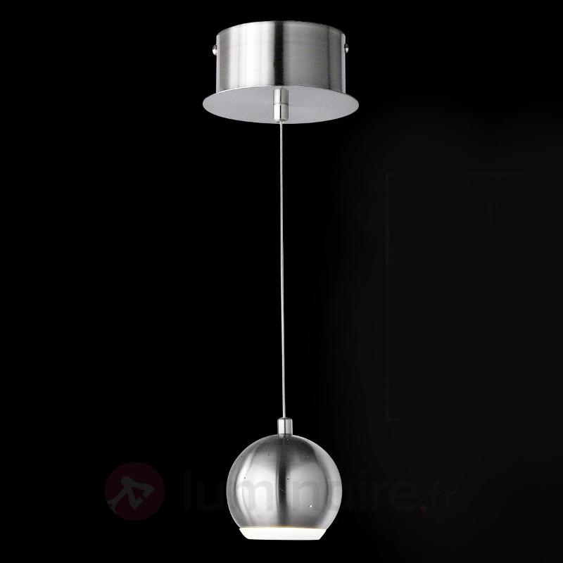 Suspension LED moderne Pino, nickel mat - Suspensions LED
