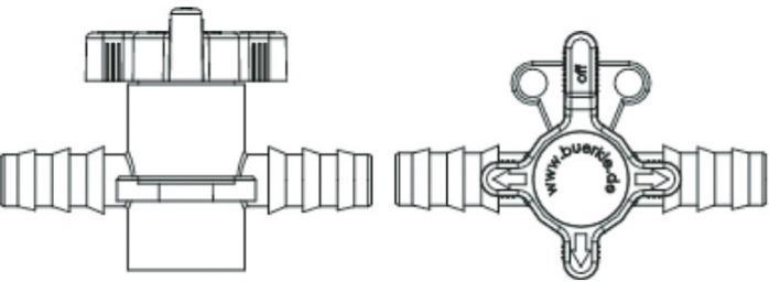 Válvulas de dos y tres vías - Transferencia de líquidos o gases, PVDF o PP/PE, equipos industriales y de labor
