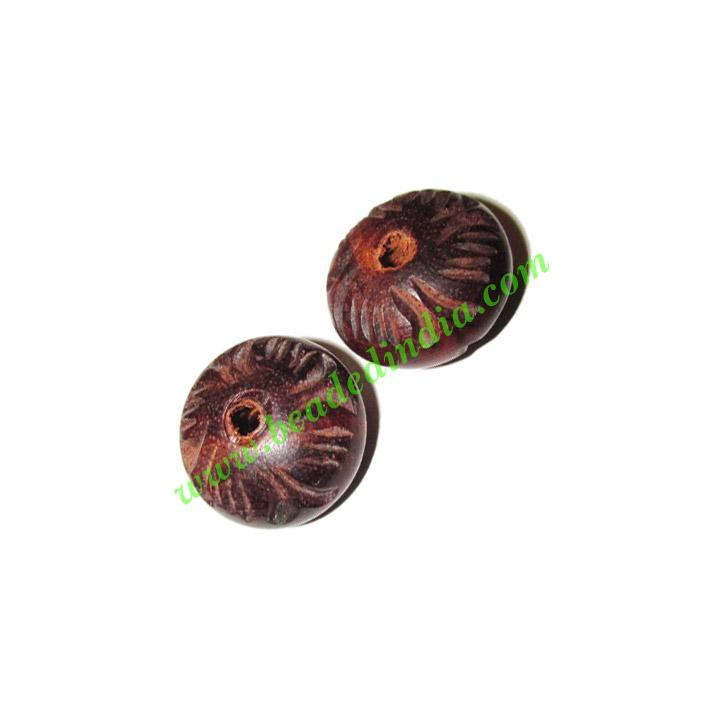 Rosewood Beads, Handcrafted designs, size 11x19mm, weight ap - Rosewood Beads, Handcrafted designs, size 11x19mm, weight approx 2.3 grams