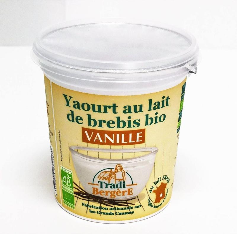 YAOURT AU LAIT DE BREBIS BIO VANILLE. (400 G) - Produits laitiers