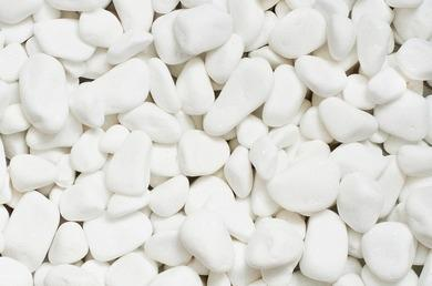 Мрамор - Снежно-белый галтованный мрамор (размеры 40 - 50 мм)