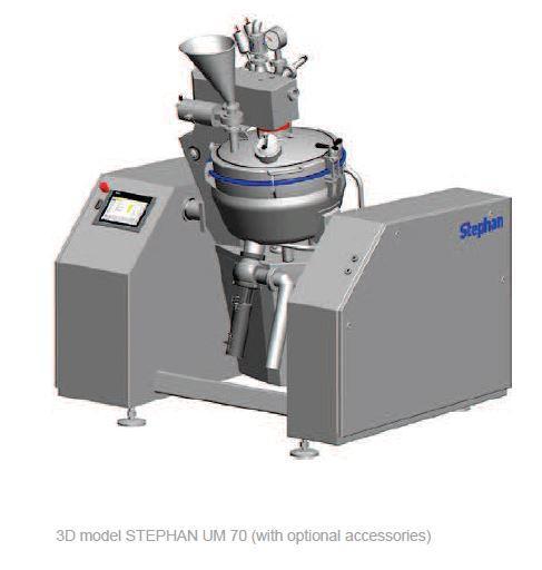 Universelle mélangeur cuiseur cutter vapeur sous vide - STEPHAN UM70