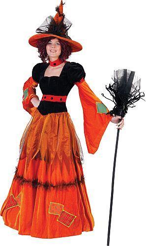 Costume sorcière citrouille, stock limité - null