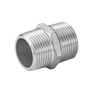 MAMELON HEXAGONAL - GAZ CONIQUE - NPT Inox 316 - ISO 4144 (5221)