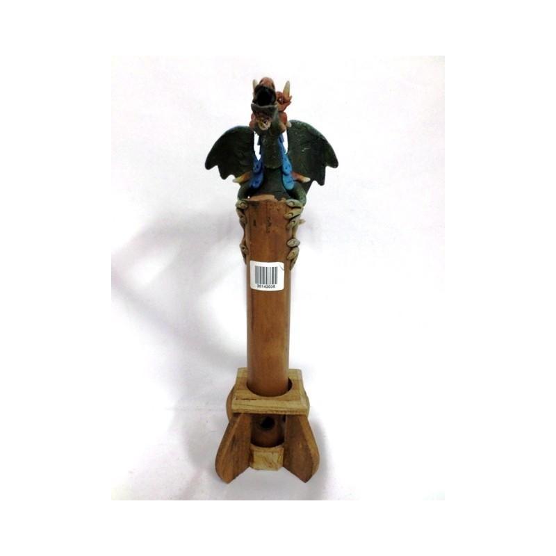 Quemador De Incienso Dragón Alado Bambú Artesanal (precio Por Unidad) - Incensarios-Soportes de incienso