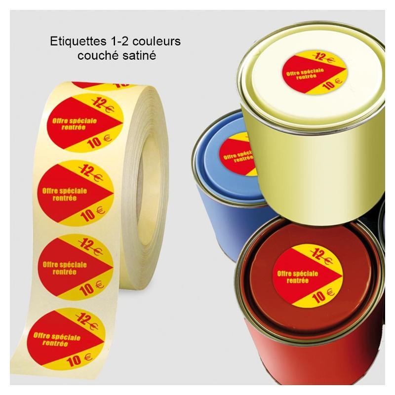 Etiquettes 1-2 couleurs - Etiquettes personnalisées multi-usages et synthétiques