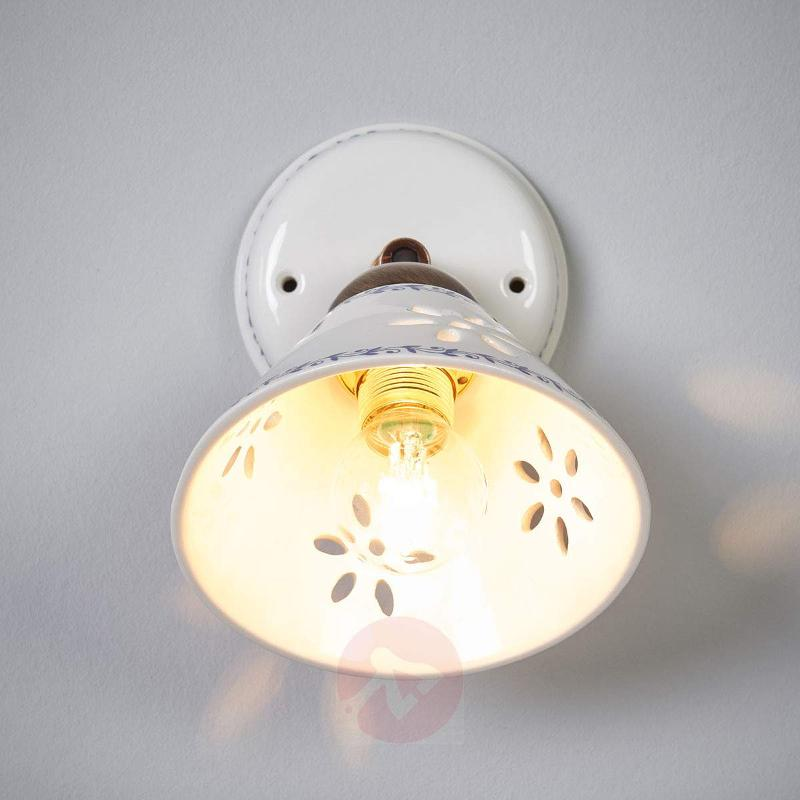 NONNA wall light, made of white ceramic - Wall Lights