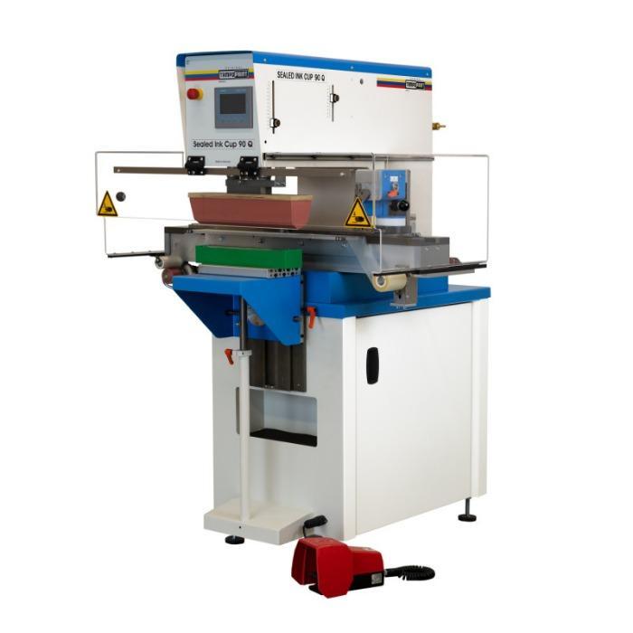 SEALED INK CUP 90 Q Pad Printing Machine - Transverse doctoring pad printing machine