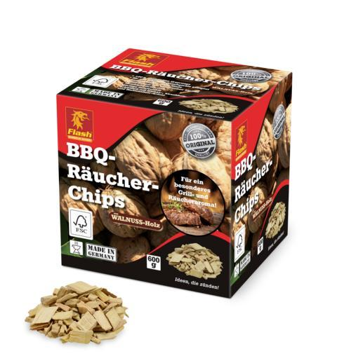 FLASH Räucher-Chips Walnuss 600 g -
