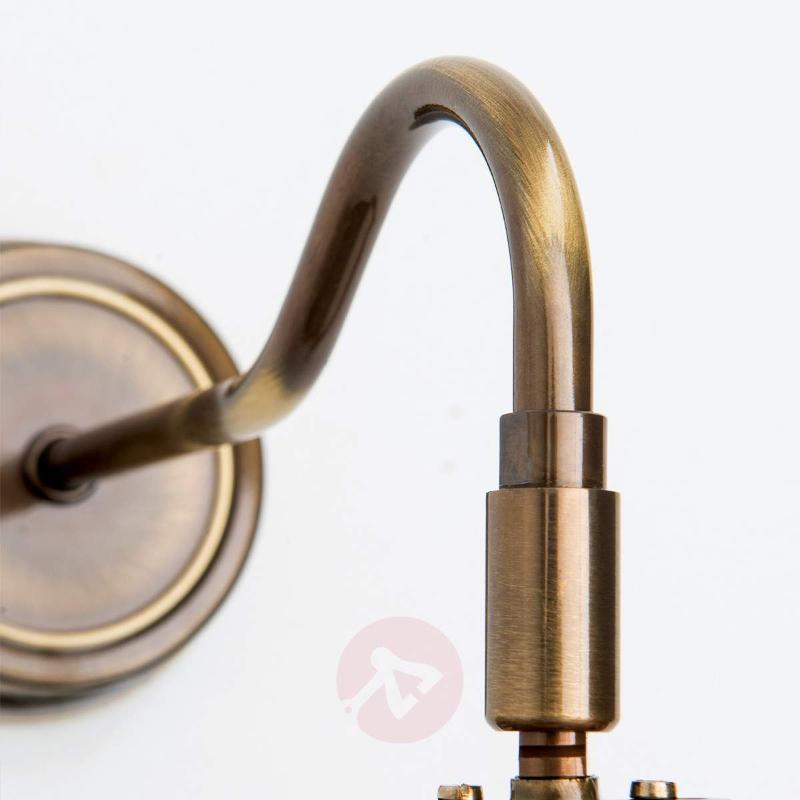 Flexible picture light Lariga antique brass 25 cm - Picture Lights