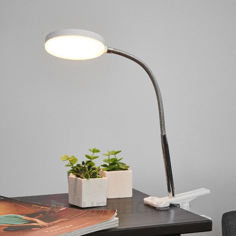 Lampe à pince Milow avec LED et bras flexible - Lampes à pince