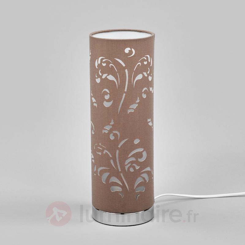 Lampe à poser Flora cappuccino avec décor - Lampes à poser pour rebord de fenêtre