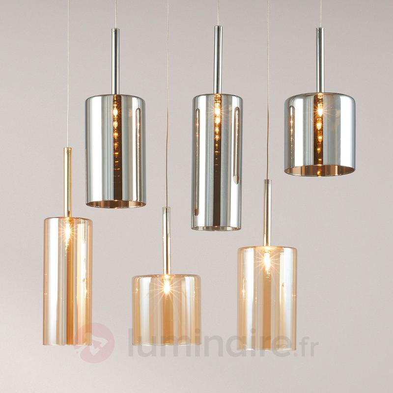 Suspension à six lampes Flaconetta - Suspensions en verre