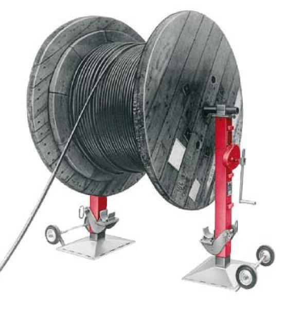 Argano con tamburo avvolgicavo 1095 - Argano con tamburo avvolgicavo, set, carico max. 16 t, corsa 480 mm