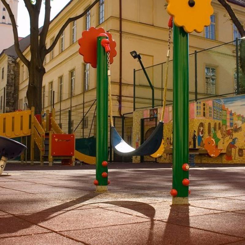 Angle de bordure de sol amortissant biaisé 25x25 cm - Mobilier urbain