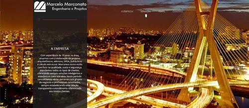 Criação do Website para uma empresa de Engenharia Cívil - Criação 100% 7ing Site
