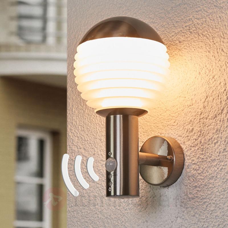 Applique d'extérieur LED à capteur Ruben en inox - Appliques d'extérieur avec détecteur