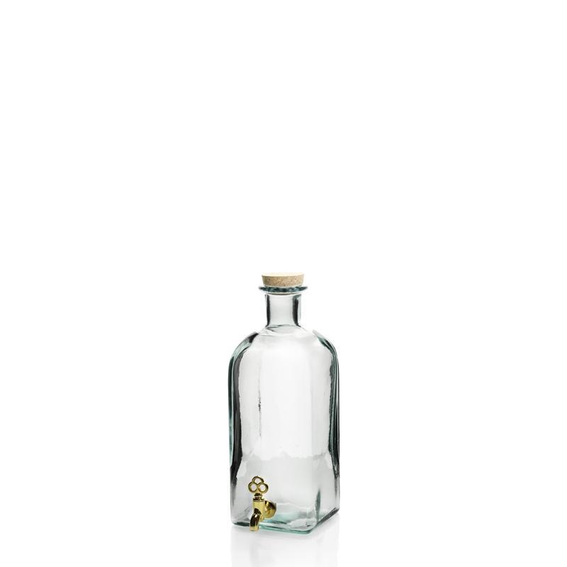 Grande bouteille 2 litres Frasco Carrée avec robinet - Flacons et Carafes