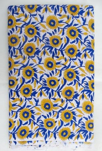 Hand Block Floral Print Cotton Fabric Sewing Crafted - Hand Block Print Fabric