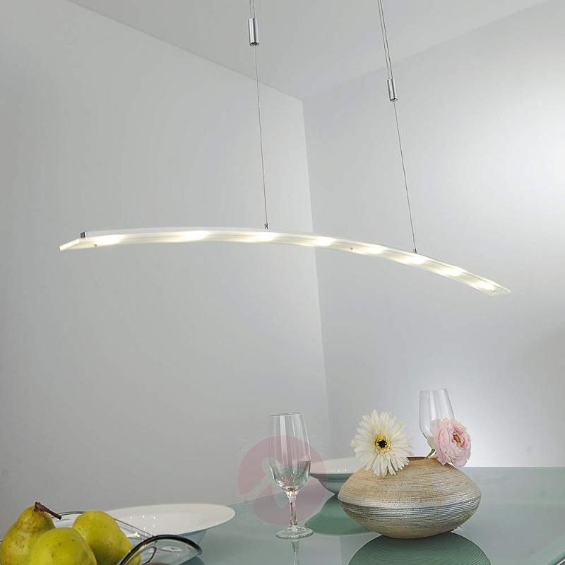 Juna height-adjustable LED pendant lamp, 136 cm - Pendant Lighting