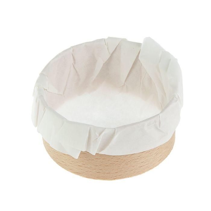 формы для выпечки деревянные  - деревянная чаша круглой формы для презентации соусов и тапас.
