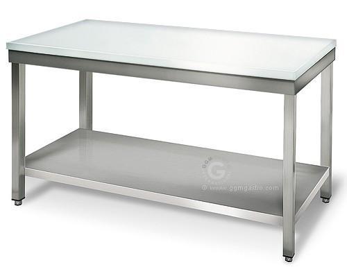 Butcher's table - Butcher table 1,6 m - worktop 40 mm