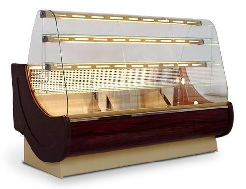 Cake counter - Cake showcase 1,6 x 0,98 m / 230 Volt