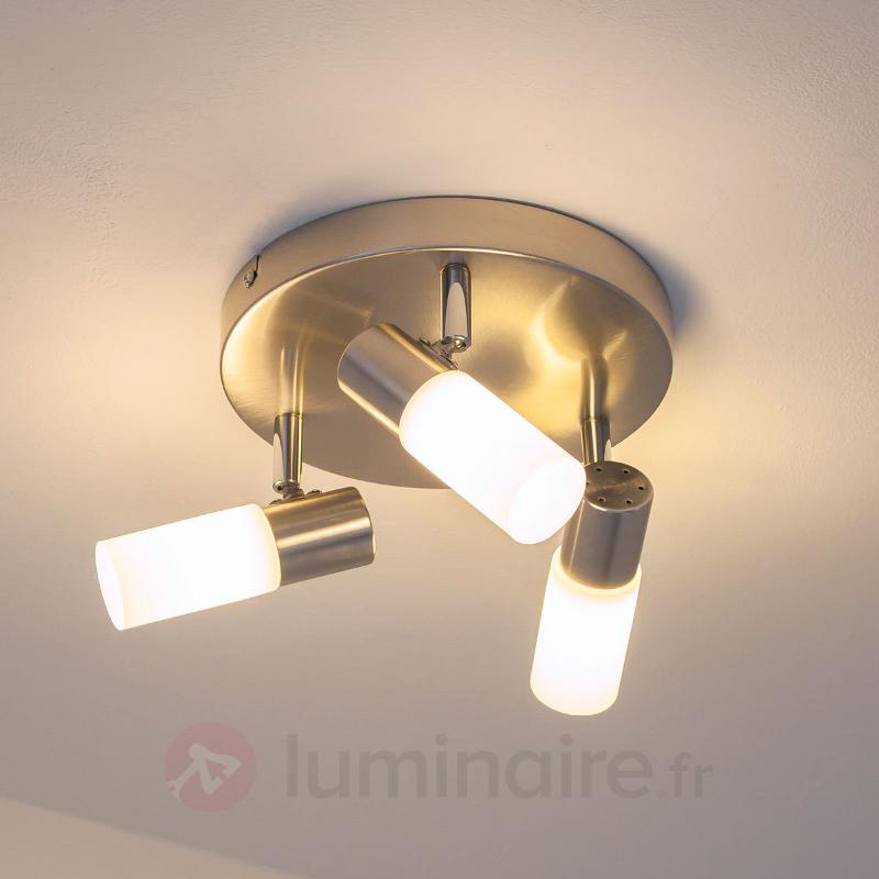 Agréable plafonnier rond LED Tamia à 3 lampes - Plafonniers LED
