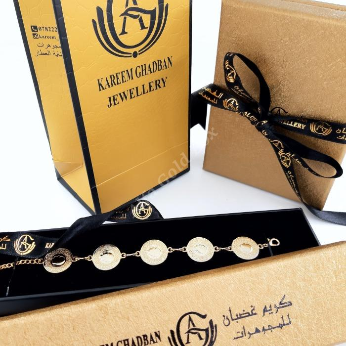 Gold and Black Leatherrette with Hot Stamp Print & Ribbon - Leatherette KLN