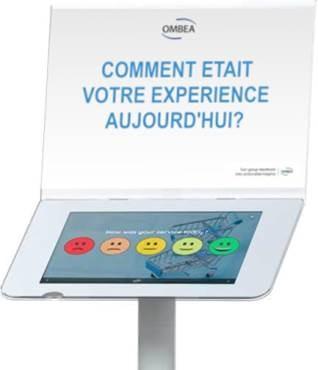OMBEA ExpressTab - Borne tablette permettant de poser des questions multiples