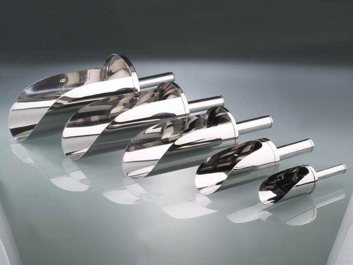Pala de acero inoxidable - Equipo de laboratorio e industrial, muestreador
