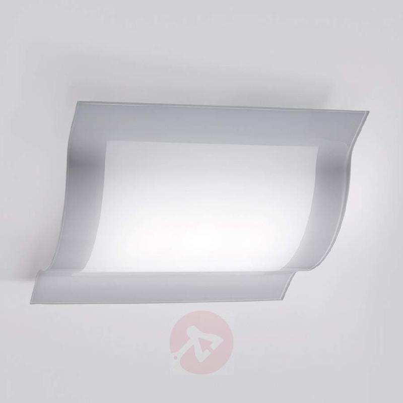 Curved LED ceiling lamp Tee made from glass - Ceiling Lights
