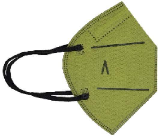 Hygienic Mask Plus Reusable MILITARY GREEN - KIDS