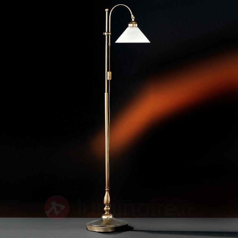 Lampadaire stylé ANTWERPEN aspect laiton ancien - Lampadaires rustiques