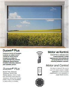 Motorized aluminium window system with remote control