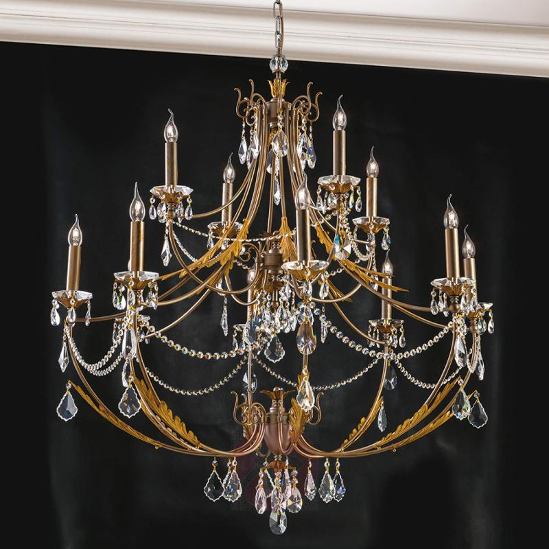 Two-layer chandelier Miramare, 12-light - design-hotel-lighting