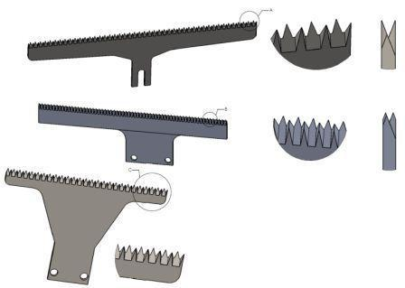 SERRATED KNIFE - VERTICAL PACKAGING CUTTING BLADES