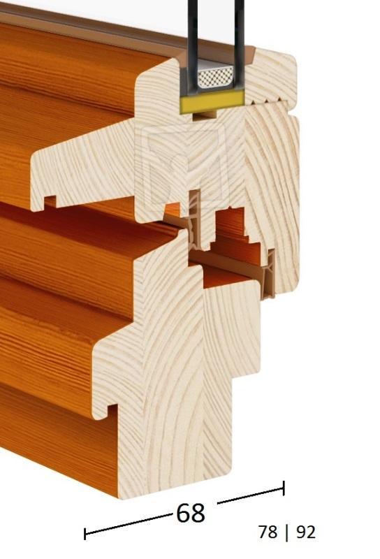 Traditionall (Wooden Windows 68|78|92) - Traditional-Wood-Turn & Tilt Window