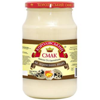 "Mayonnaise 72% ""EUROPEAN QUAIL EGG""  - Delicious and wholesome"