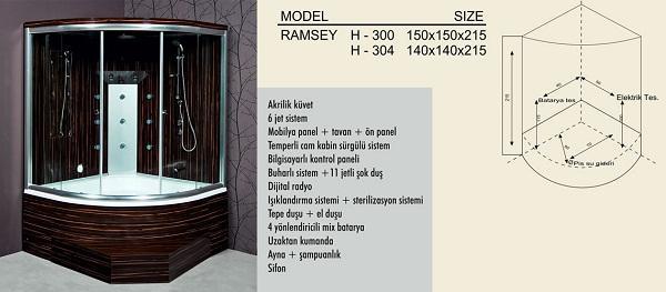 Душевая кабина - Модель Ramsey