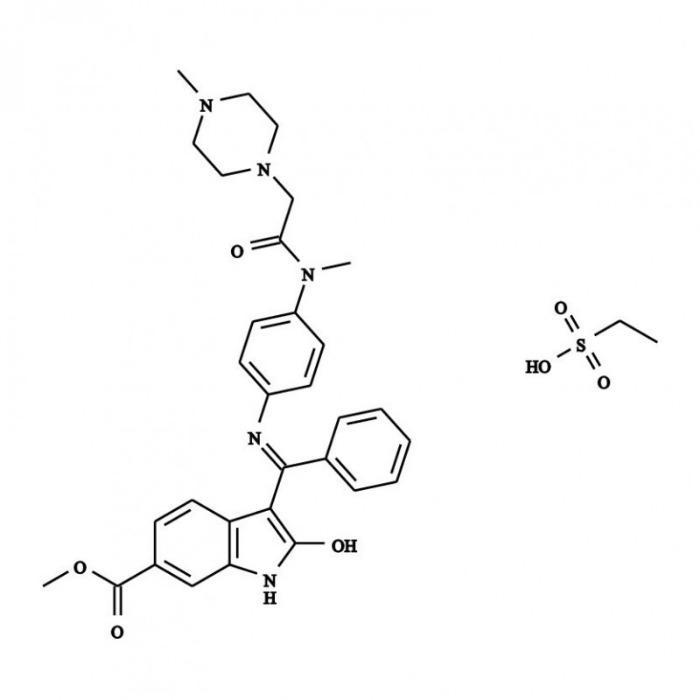 Esilato de Nintedanib - Esilato de Nintedanib; 656247-18-6; fármaco; anticancerígeno