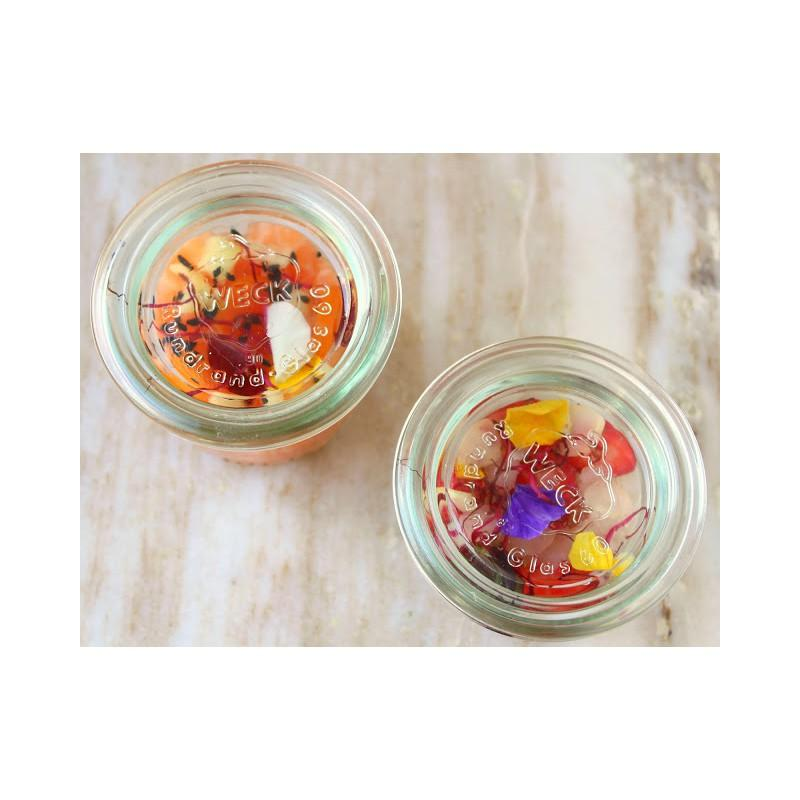 WECK® STORT Glazen - 12 Rechte glazen 50 Ml Weck met ingesloten Deksels en verbindingsstukken (niet