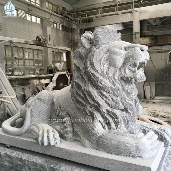 Granite Animal Carving Stone Liona Carving - Animal Carvings