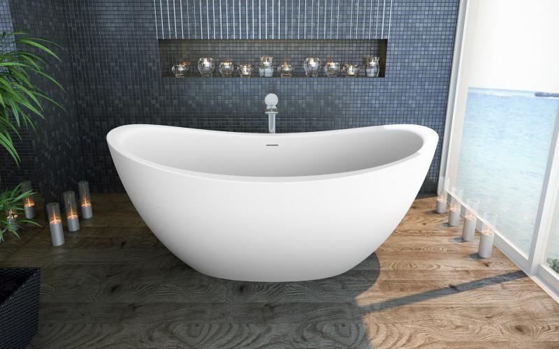 Purescape 171 Каменная Ванна - Отдельностоящая, овальная, размер 183 x 100 x 79 см
