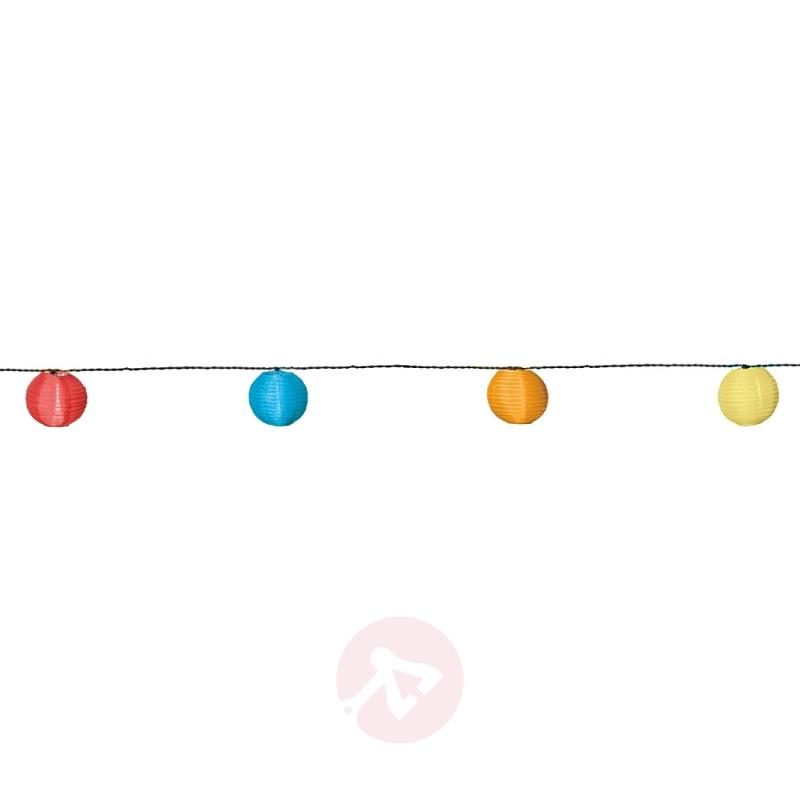 Colourful LED solar string light with 10 lampions - outdoor-led-lights
