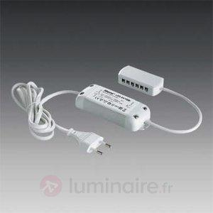 Transformateur LED 1-15W DC 24 V avec répartiteur - Transformateurs LED