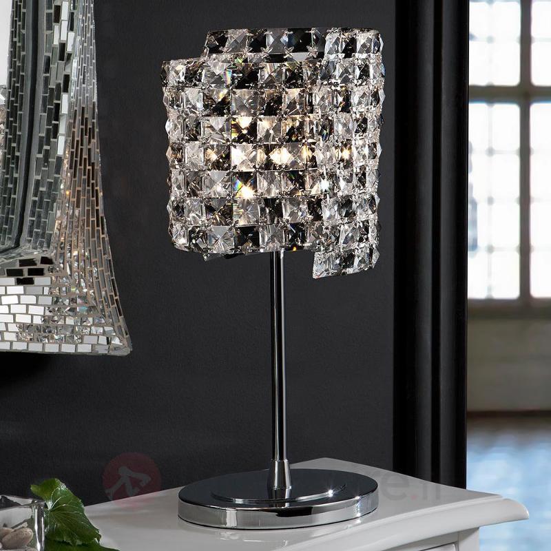 Lampe à poser cristal Satén avec cristaux K9 - Lampes à poser en cristal
