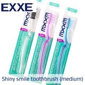 EXXE INNOVATIVE TOOTHBRUSHES - The exclusive ergonomic handle in combination with special bristles