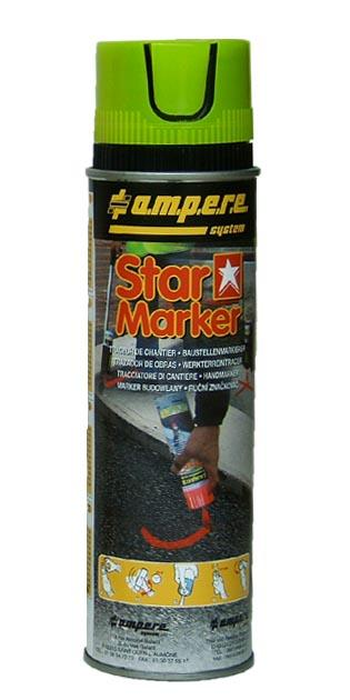 MARQUEURS ET TRACEURS PEINTURE - PA-STAR MARKER jaune carton de 12 unités